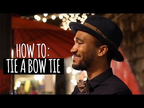 How To: Tie a Bow Tie (featuring my brother!)
