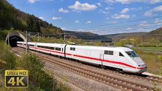 From 200 to 300km/h ICE 1, ICE T, ICE 3 and ICE 4 German fast trains - SFS Ingolstadt-Nürnberg [4K]