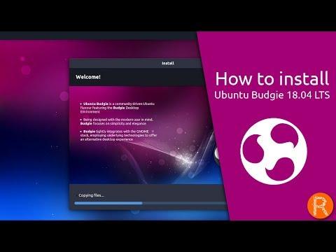 How to install Ubuntu Budgie 18.04 LTS