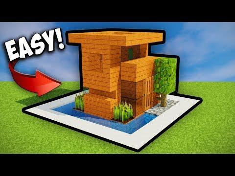 TINY MINECRAFT STARTER HOUSE!! Minecraft Tutorial 2017