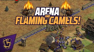 Arena and Flaming Camels!