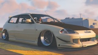 GTA 5 PC MODS - JDM Slammed Civic + Fast and Furious Cargo Jet!!