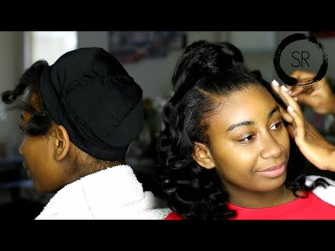 HALF UP HALF DOWN QUICK WEAVE KID FRIENDLY PROTECTIVE STYLE