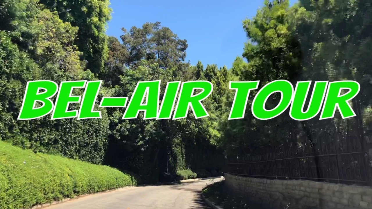 Tour the Bel Air area of Los Angeles, Chalon Road & Bellagio Road   Christophe Choo Video
