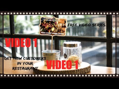 How To Increase Revenue In Your Restaurant Video Part 1