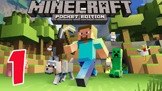 Minecraft PE - Survival Mode - Gameplay Part #1 - Let's Play Video Game Commentary - MCPE