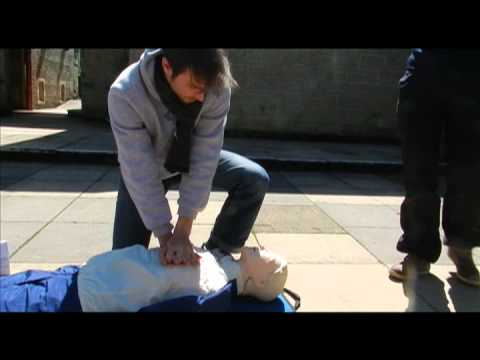 Learning CPR with Blue Dot Media Safety Training