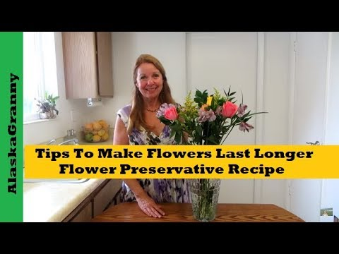 Tips To Make Flowers Last Longer And Flower Preservative Recipe