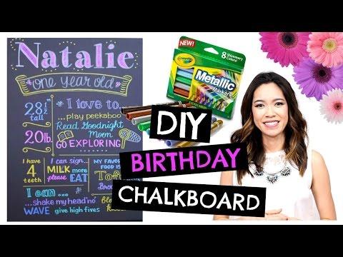 DIY 1st BIRTHDAY Chalkboard: Easy & Cheap!