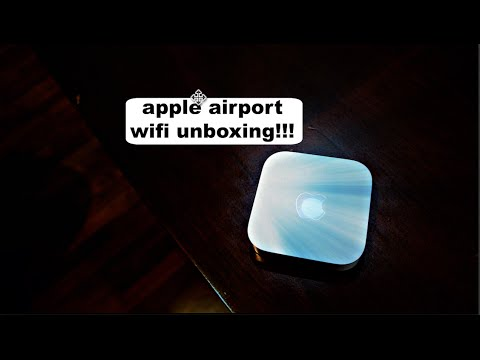 The apple wifi (airport utility unboxing)