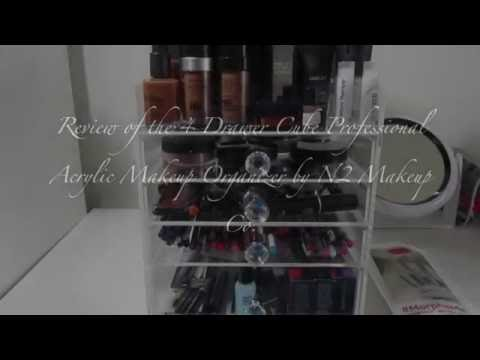 Review| 4 Drawer Cube Professional Acrylic Makeup Organizer by N2 Makeup Co.