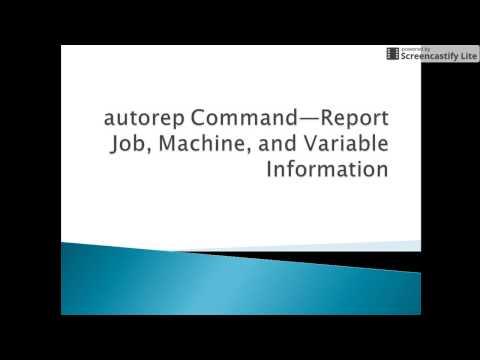Autosys Tutorials: autorep Command—Report Job, Machine, and Variable Information