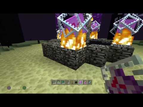 Mincraft PS4 how to make an Ender portal/respawn Ender dragon and enter/exit End City