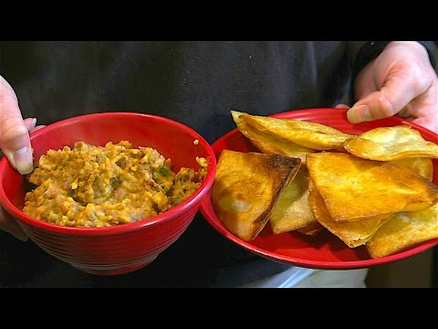Spicy Bean Dip w/Fried Tortilla Chips (Great Recipes)