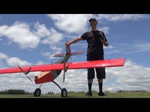 Maiden flight: iForce2D's huge flying coffin RC plane