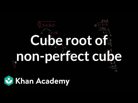 Cube root of a non-perfect cube | Pre-Algebra | Khan Academy