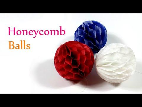 DIY crafts: HONEYCOMB Balls - Innova Crafts