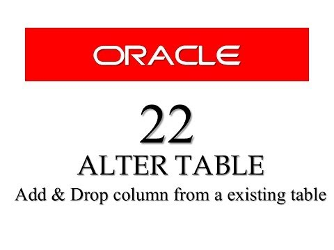SQL tutorial 22: How to Add / Delete column from an existing table using alter table