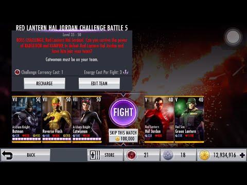 Injustice iOS Red Lantern Hal Jordan Challenge II Nightmare Boss Fight
