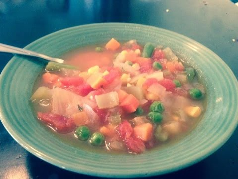 Easy Vegetable Soup Recipe - How to make Vegetable Soup
