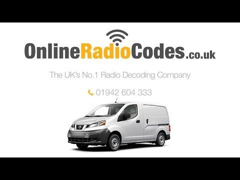 🚗  Nissan NV200 Radio Code Stereo PIN Unlock Codes