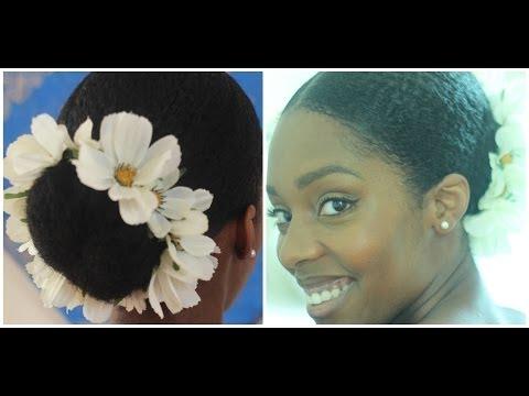 HAIR   DIY Flower Bun Hairband/Garland