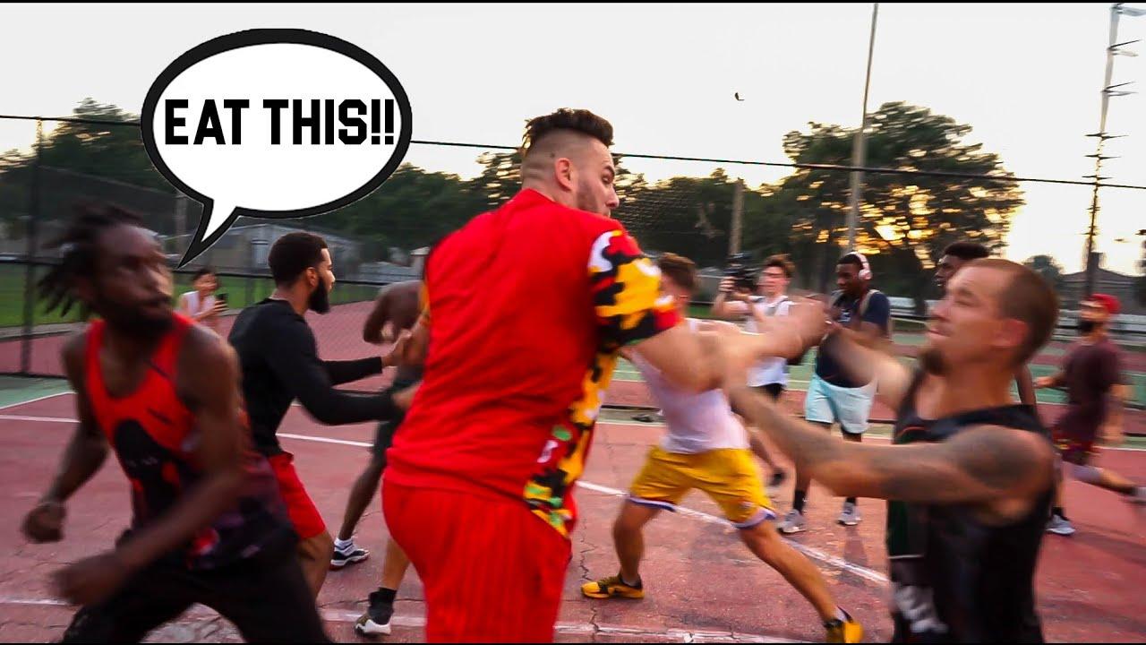 PURE CHAOS AT THE PARK! 5v5 Basketball!