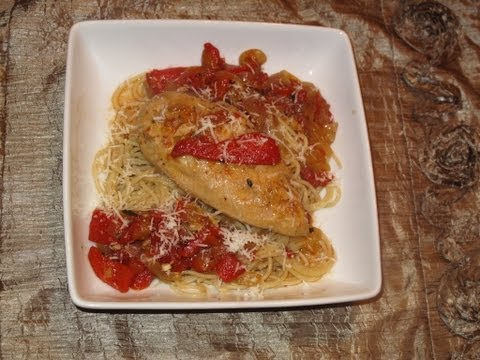 Chicken With Peppers and Onions