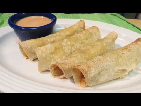 Taquitos - How To Make Chicken Taquitos - Baked NOT Fried Recipe!
