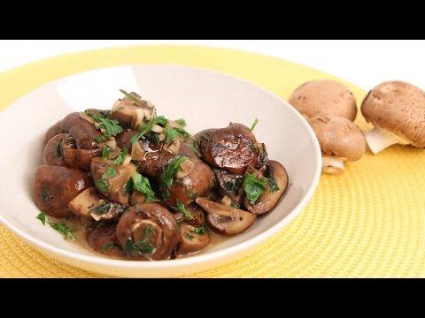 Parmesan Sauteed Mushroom Recipe Laura Vitale Laura In The Kitchen Ep