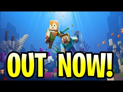 Minecraft UPDATE AQUATIC OUT NOW! ALL FEATURES! PE, Xbox One, Windows 10 & VR