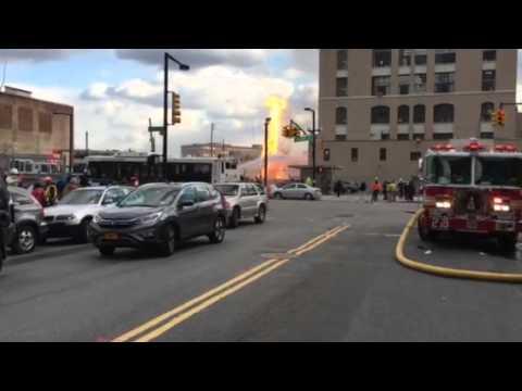 TV Online Inc. Footage Queens New York Gas fire