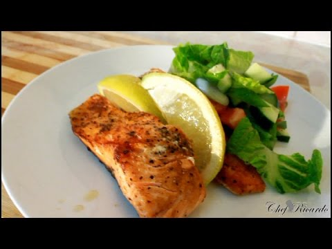 Pan Fried Salmon Salad For Summer [Caribbean Summer Recipe] | Recipes By Chef Ricardo