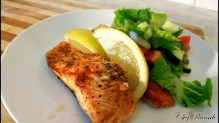Pan Fried Salmon Salad For Summer Caribbean Summer Recipe