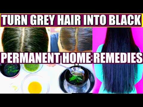 How To Turn Grey Hair Into Black Permanently | SuperPrincessjo