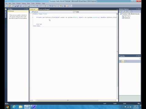 Visual Basic 2010 - Tutorial 1 - Hello World