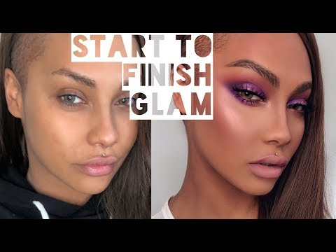 START TO FINISH GLAM: HOLIDAY PURPLE MAKEUP| SONJDRADELUXE