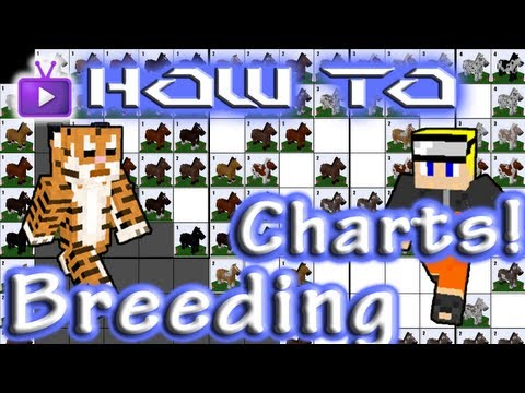 Minecraft How To: Mo' Creatures - Reading Horse Breeding Charts!