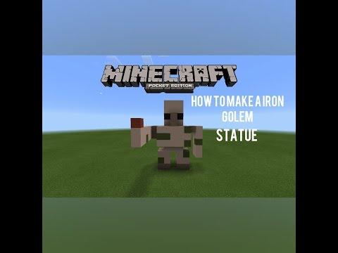 How to make a iron Golem statue