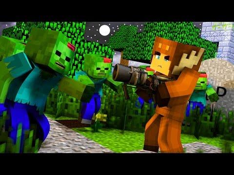 Minecraft ZOMBIE APOCALYPSE SURVIVAL - DOUBLE THUNDERGUN! (Episode 1)