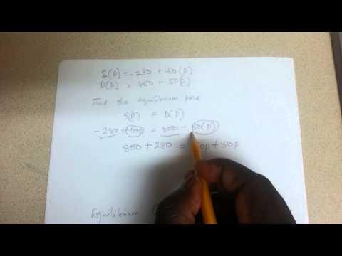 Equilibrium price + quantity calculation