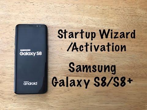 Activation / startup Samsung Galaxy S8