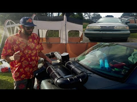 How to Shower on the Road - DIY SOLAR-HEATED, PRESSURIZED CAR-TOP CAMP SHOWER