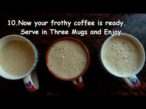 How to make frothy cold coffee at home