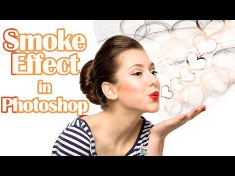 create #Smoke effect in #photoshop Hindi tutorial