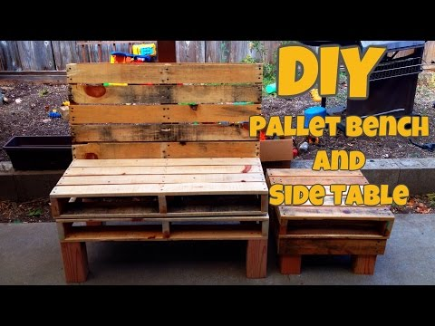 DIY Pallet Bench and Side Table