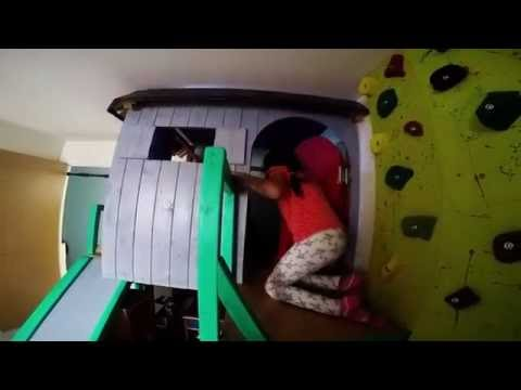 DIY Indoor Play house & Rock Climbing wall
