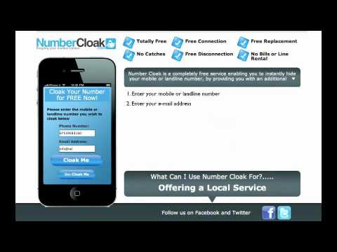 Number Cloak- Cloak Me- Free temporary or secondary telephone numbers- Hide my number