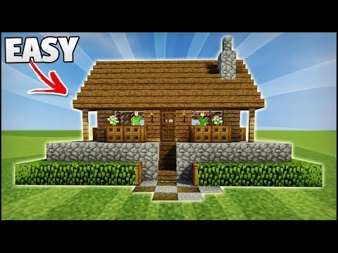Minecraft: How To Build The Perfect Starter House (First Night) - Easy House Tutorial
