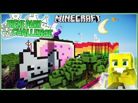 Nyan Cat Rollercoaster!   Minecraft Theme Park Challenge   Ep.18